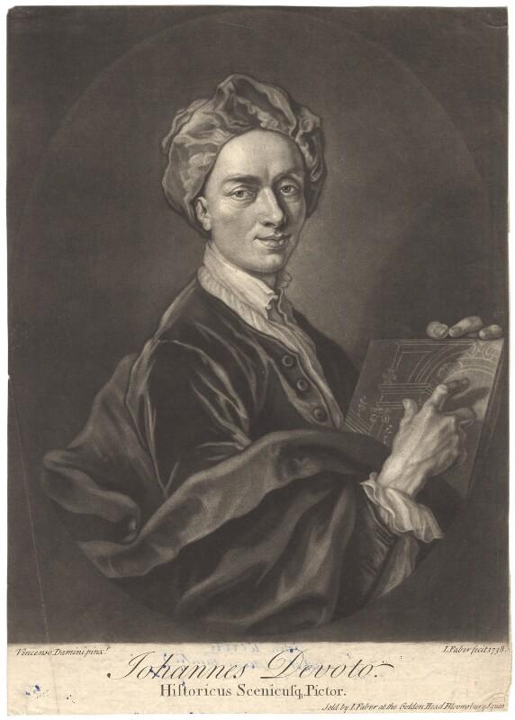John Devoto, by John Faber Jr, after  Vincenzo Damini, 1738 - NPG D1642 - © National Portrait Gallery, London