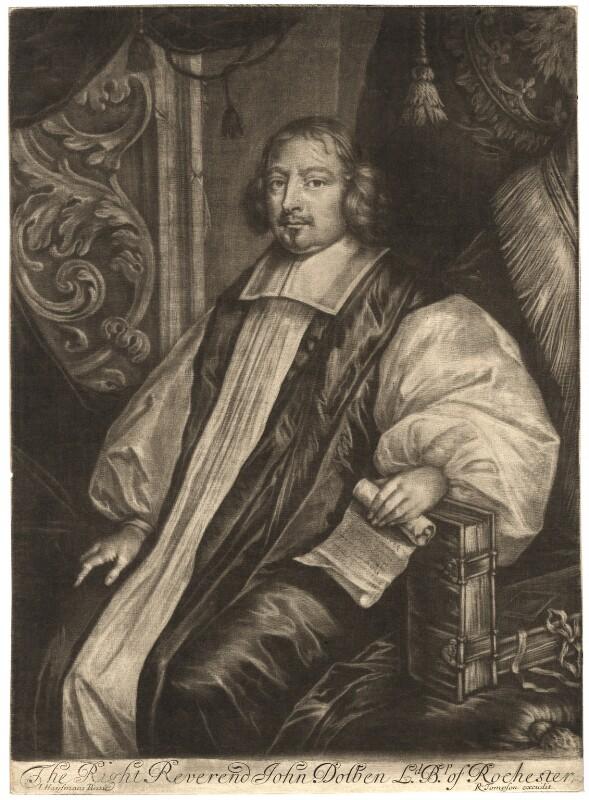John Dolben, published by Richard Tompson, after  Jacob Huysmans, 1678-1679 - NPG D1652 - © National Portrait Gallery, London