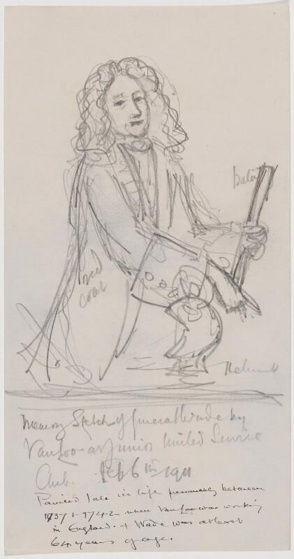 George Wade, by Sir Charles John Holmes, after  Jean Baptiste van Loo, 6 February 1911 - NPG D1707 - © National Portrait Gallery, London