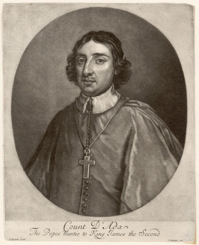 Ferdinando d'Adda, by Isaac Beckett, after  Sir Godfrey Kneller, Bt, 1685-1688 - NPG D1712 - © National Portrait Gallery, London