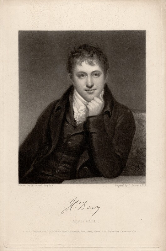 Sir Humphry Davy, Bt, by Charles Turner, after  Henry Howard, published 1835 - NPG D1729 - © National Portrait Gallery, London