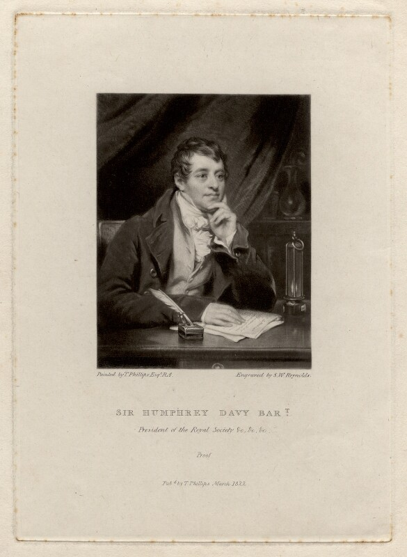 Sir Humphry Davy, Bt, by Samuel William Reynolds, after  Thomas Phillips,  - NPG D1731 - © National Portrait Gallery, London