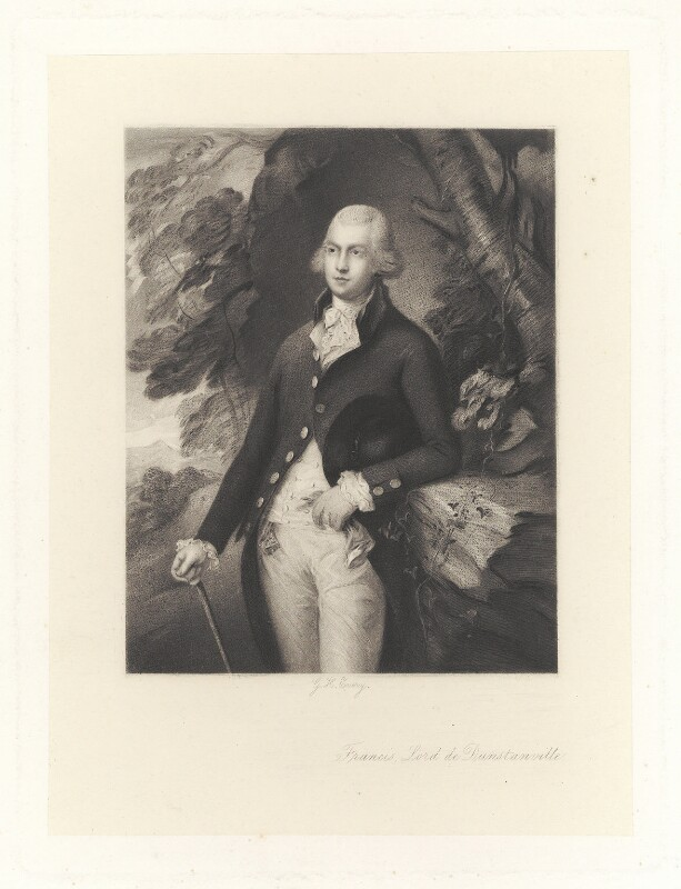 Francis Basset, Baron de Dunstanville and Baron Basset, by George H. Every, after  Henry Graves & Co, after  Thomas Gainsborough, published 1870 - NPG D1733 - © National Portrait Gallery, London