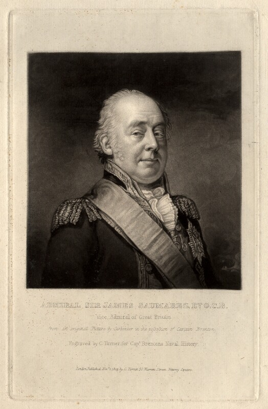 James Saumarez, 1st Baron de Saumarez, by Charles Turner, after  Carbonier, published 1823 - NPG D1745 - © National Portrait Gallery, London