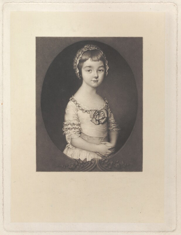 Georgiana Cavendish (née Spencer), Duchess of Devonshire, by Richard Josey, after  Thomas Gainsborough, published 1877 - NPG D1754 - © National Portrait Gallery, London