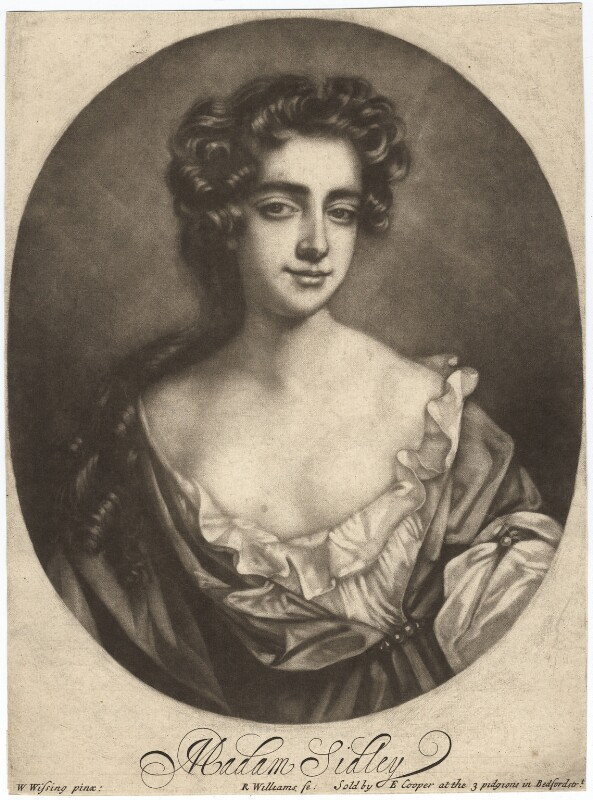 Catherine Sedley, Countess of Dorchester, by Robert Williams, after  Willem Wissing, late 17th century - NPG D1771 - © National Portrait Gallery, London