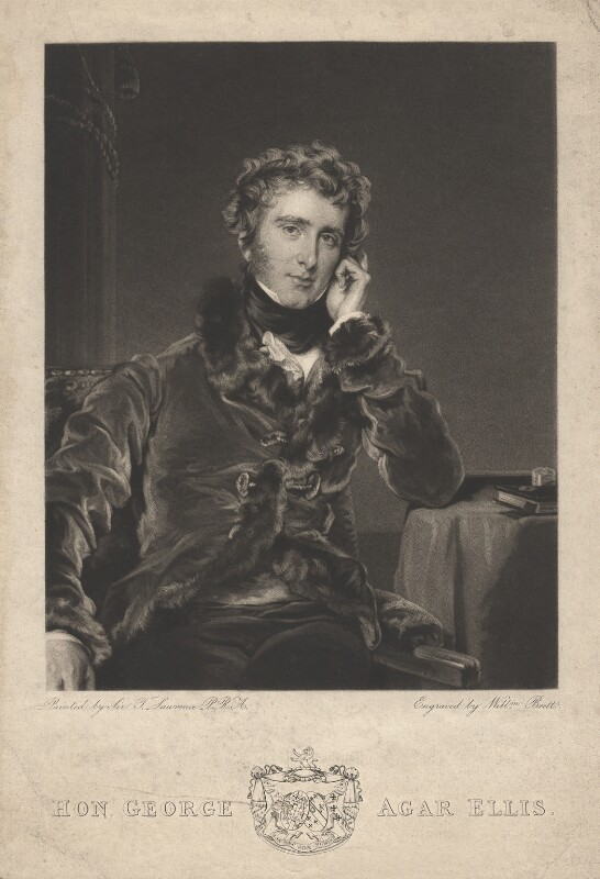 George Agar-Ellis, 1st Baron Dover, by William Brett, after  Sir Thomas Lawrence, 1827 (1823-1824) - NPG D1782 - © National Portrait Gallery, London
