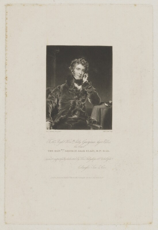 George Agar-Ellis, 1st Baron Dover, by William Brett, after  Sir Thomas Lawrence, published 1827 - NPG D1783 - © National Portrait Gallery, London