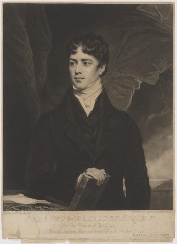 John George Lambton, 1st Earl of Durham, by Samuel William Reynolds, after  Thomas Phillips, (1819) - NPG D1813 - © National Portrait Gallery, London