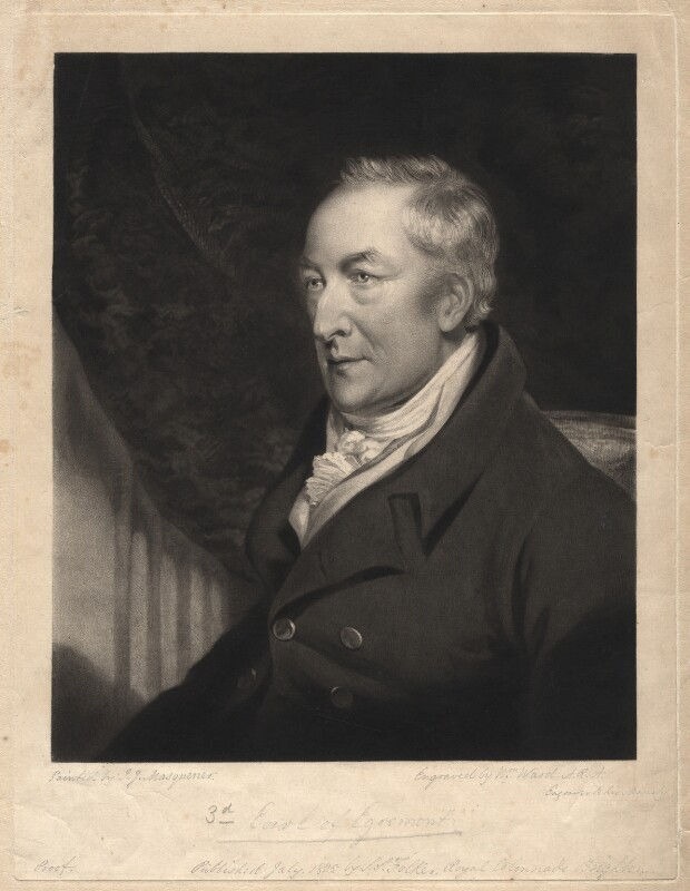 George Wyndham, 3rd Earl of Egremont, by William Ward, after  John James Masquerier, published 1825 - NPG D1831 - © National Portrait Gallery, London