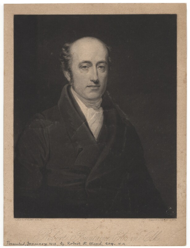 Robert Fountain (or Fountaine) Elwin, by Henry Edward Dawe, after  George Clint, mid 19th century - NPG D1833 - © National Portrait Gallery, London