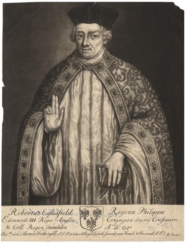 Robert Eglesfield, by John Faber Sr, after  Unknown artist, 1712-1714 - NPG D1850 - © National Portrait Gallery, London