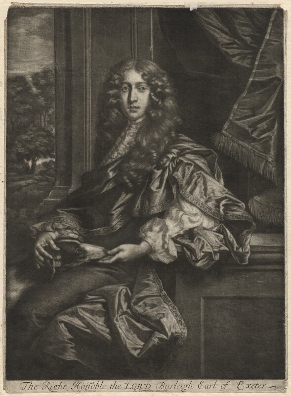 John Cecil, 5th Earl of Exeter, published by Richard Tompson, after  Sir Peter Lely, 1678-1679 - NPG D1887 - © National Portrait Gallery, London