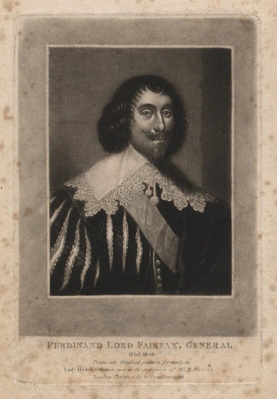 Ferdinando Fairfax, 2nd Lord Fairfax of Cameron, after Unknown artist, published 1811 - NPG D1900 - © National Portrait Gallery, London