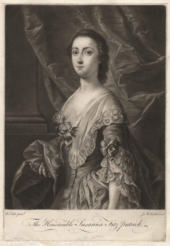 Susanna Fitzpatrick (née Usher), by James Macardell, after  Andrea Soldi, 1750s-1760s - NPG D1917 - © National Portrait Gallery, London