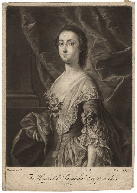 Susanna Fitzpatrick (née Usher), by James Macardell, after  Andrea Soldi, 1750s-1760s - NPG D1918 - © National Portrait Gallery, London
