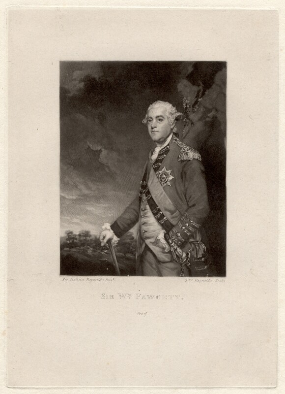 Sir William Fawcett, by Samuel William Reynolds, after  Sir Joshua Reynolds, published 1801 - NPG D1933 - © National Portrait Gallery, London