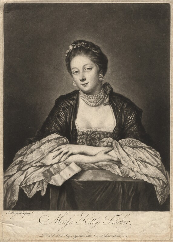 Kitty Fisher, by Richard Purcell (H. Fowler, Charles or Philip Corbutt), after  Sir Joshua Reynolds,  - NPG D1953 - © National Portrait Gallery, London