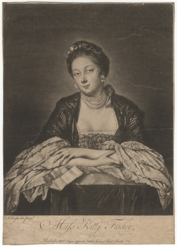 Kitty Fisher, by Richard Purcell (H. Fowler, Charles or Philip Corbutt), after  Sir Joshua Reynolds,  - NPG D1954 - © National Portrait Gallery, London