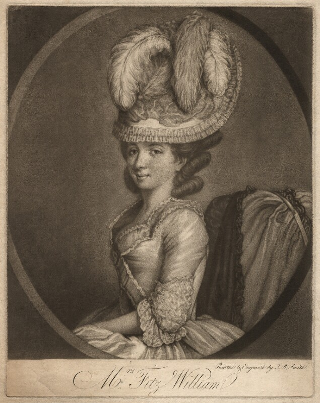 Mrs Fitzwilliam, by John Raphael Smith, published 1777 - NPG D1957 - © National Portrait Gallery, London