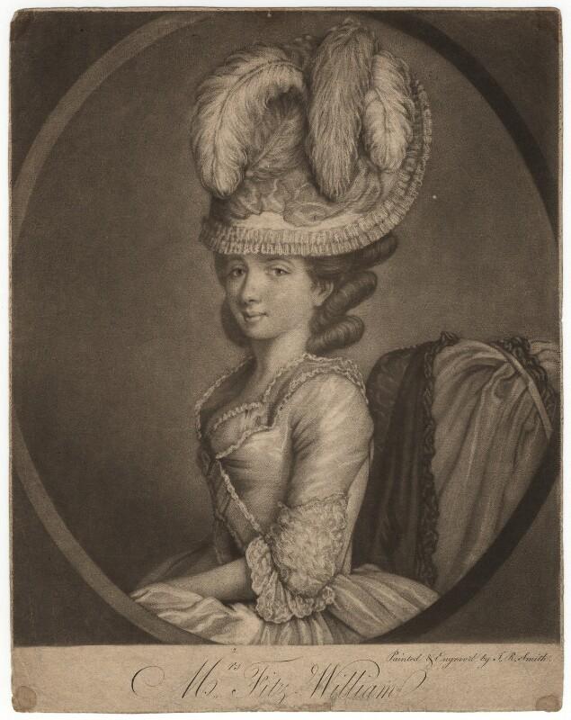 Mrs Fitzwilliam, by John Raphael Smith, published 1777 - NPG D1958 - © National Portrait Gallery, London