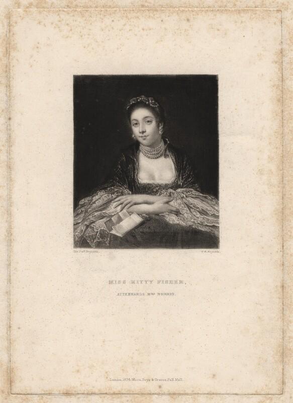 Kitty Fisher, by Samuel William Reynolds, after  Sir Joshua Reynolds, published 1834 - NPG D1962 - © National Portrait Gallery, London