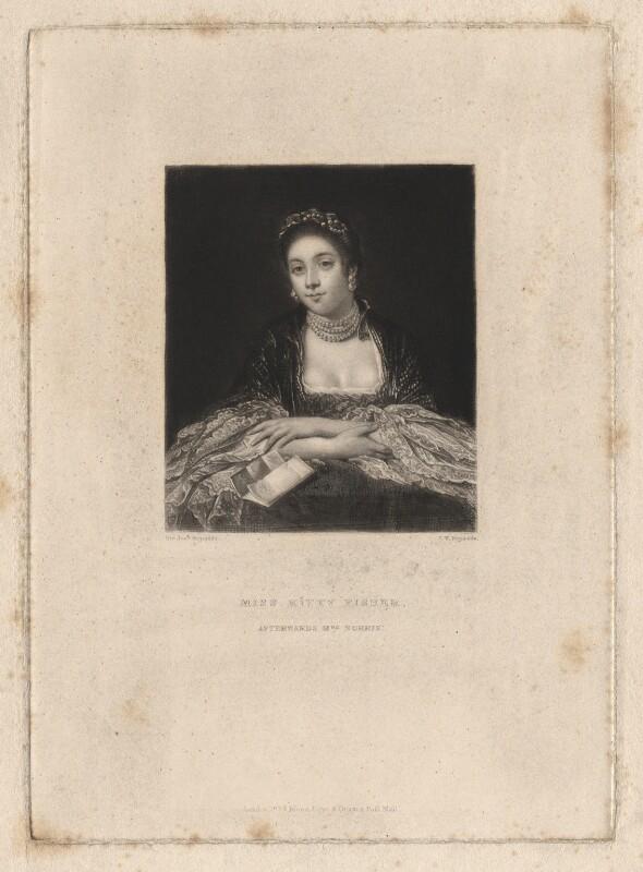 Kitty Fisher, by Samuel William Reynolds, after  Sir Joshua Reynolds, published 1834 - NPG D1963 - © National Portrait Gallery, London