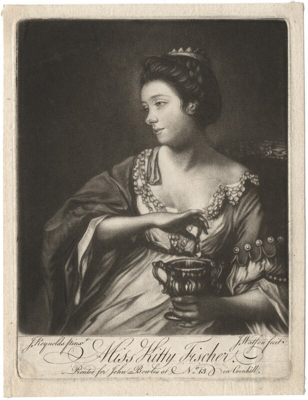Kitty Fisher, by James Watson, after  Sir Joshua Reynolds,  - NPG D1964 - © National Portrait Gallery, London
