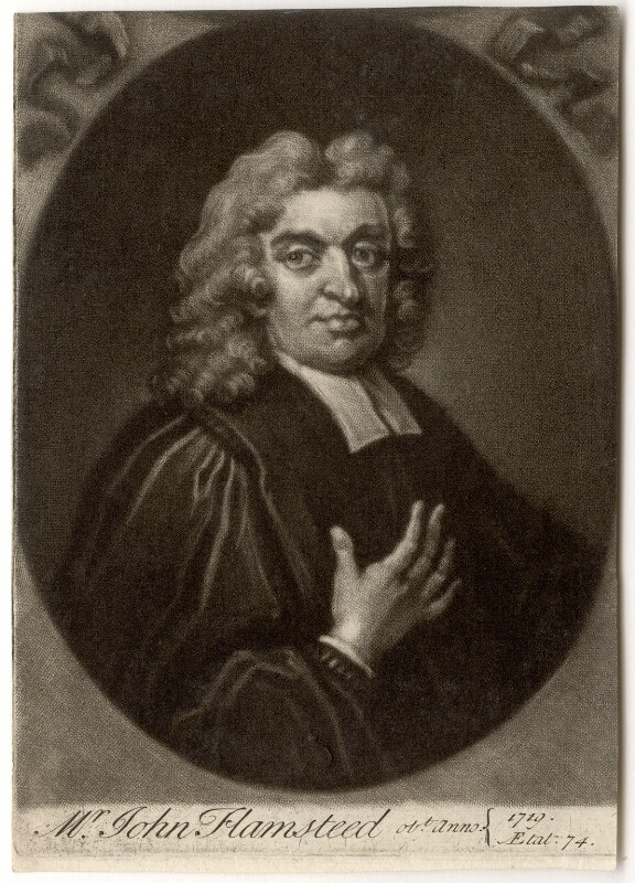 John Flamsteed, by John Simon, after  Thomas Gibson, 1719 or after (1712) - NPG D1965 - © National Portrait Gallery, London