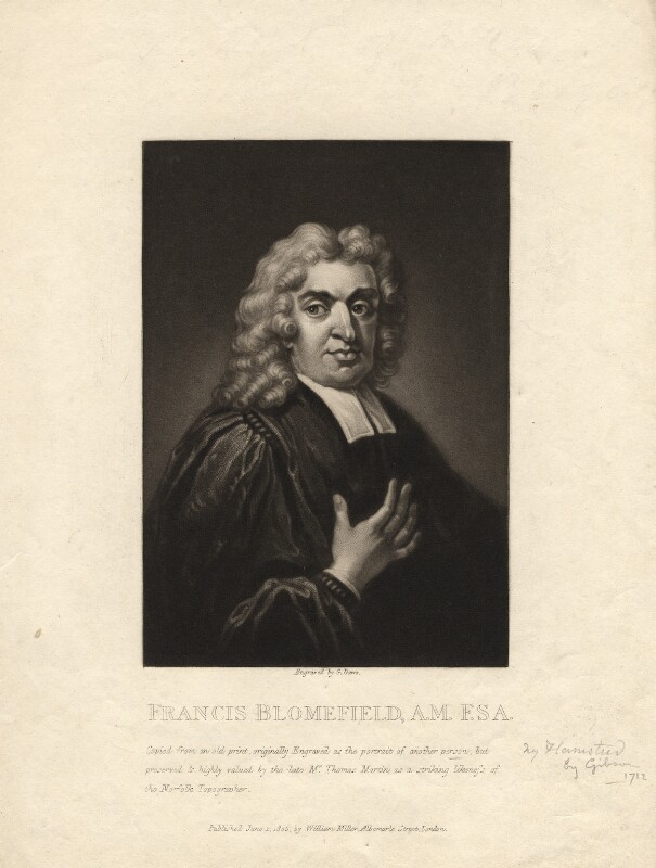 John Flamsteed, by George Dawe, after  Thomas Gibson, published 1805 - NPG D1966 - © National Portrait Gallery, London