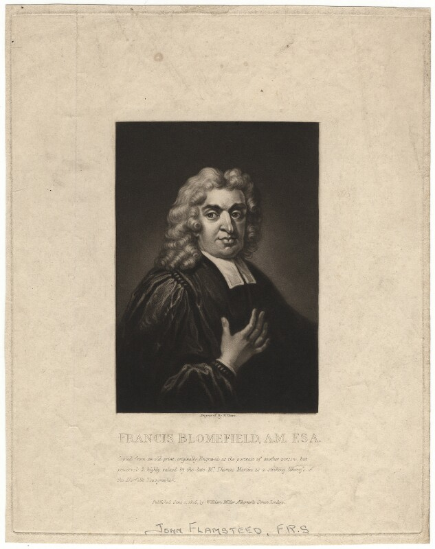 John Flamsteed, by George Dawe, after  Thomas Gibson, published 1805 - NPG D1967 - © National Portrait Gallery, London