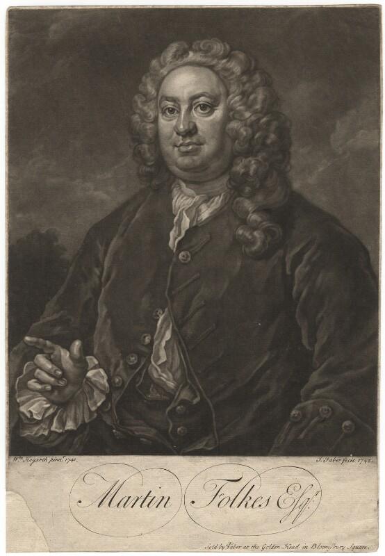 Martin Folkes, by John Faber Jr, after  William Hogarth, 1742 (1741) - NPG D1977 - © National Portrait Gallery, London