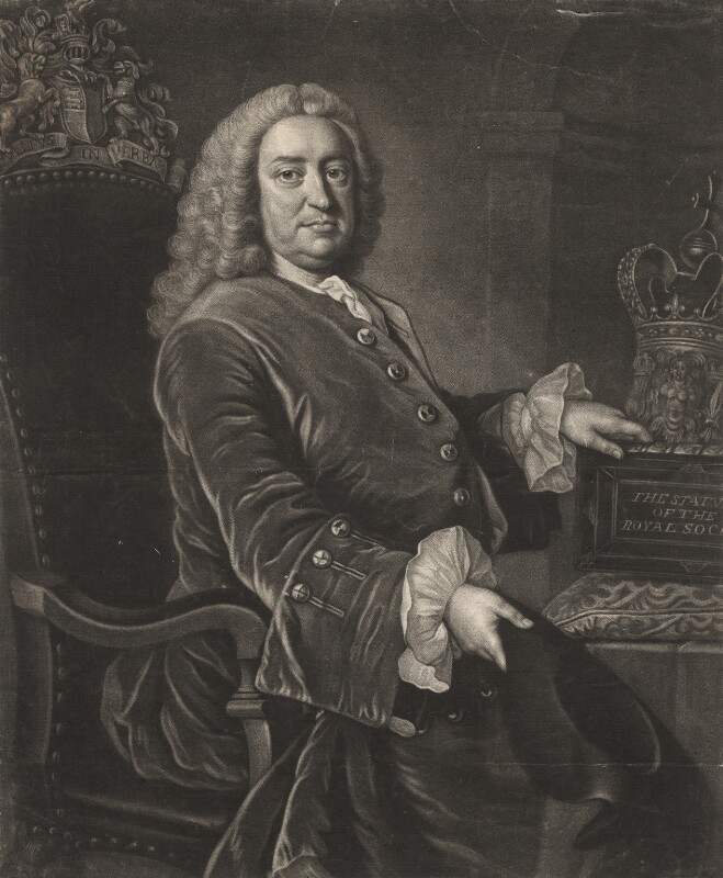 Martin Folkes, by James Macardell, after  Thomas Hudson, late 1740s-1750s - NPG D1979 - © National Portrait Gallery, London