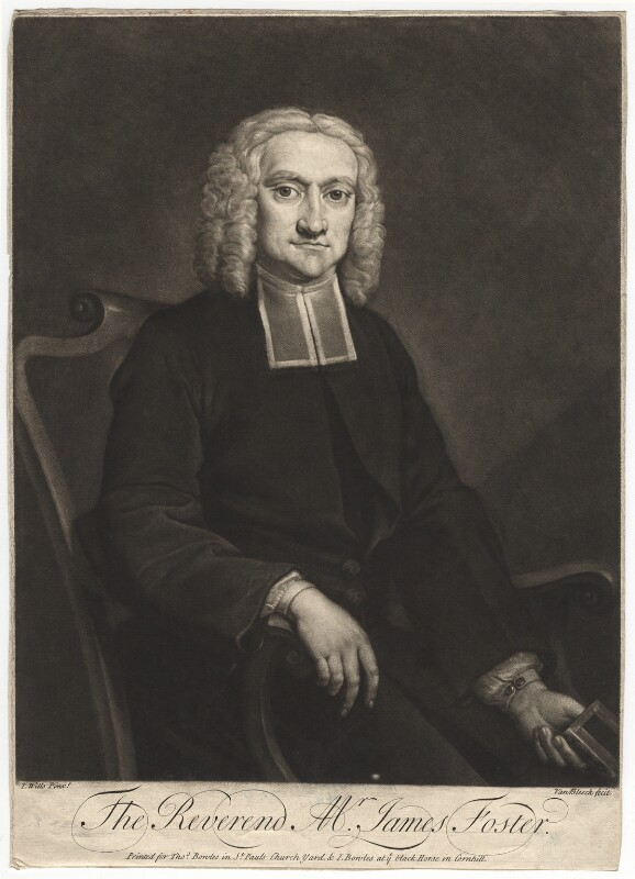 James Foster, by Peter van Bleeck, after  James Wills, circa 1750-1775 - NPG D2003 - © National Portrait Gallery, London
