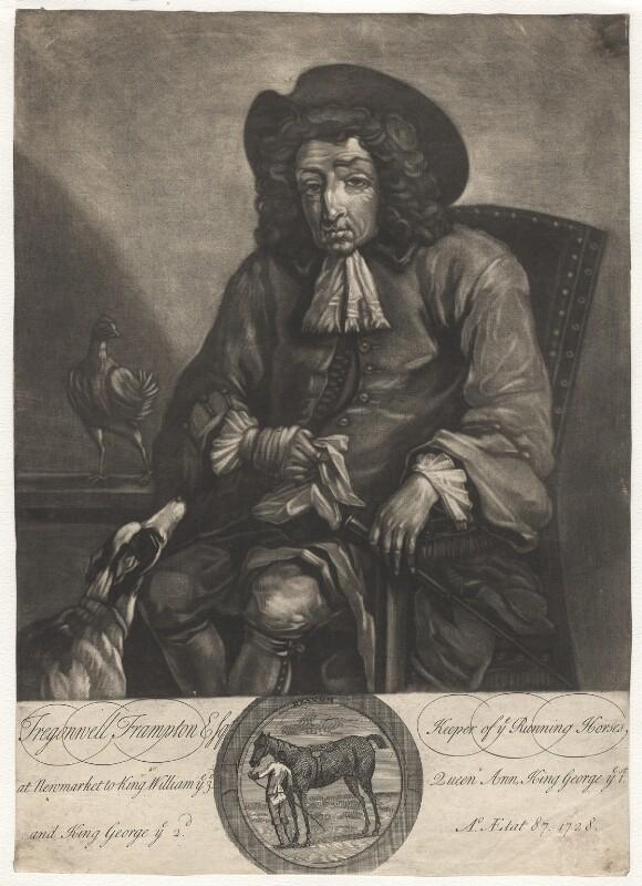 Tregonwell Frampton, by John Faber Jr, after  John Wootton, 1728 - NPG D2015 - © National Portrait Gallery, London