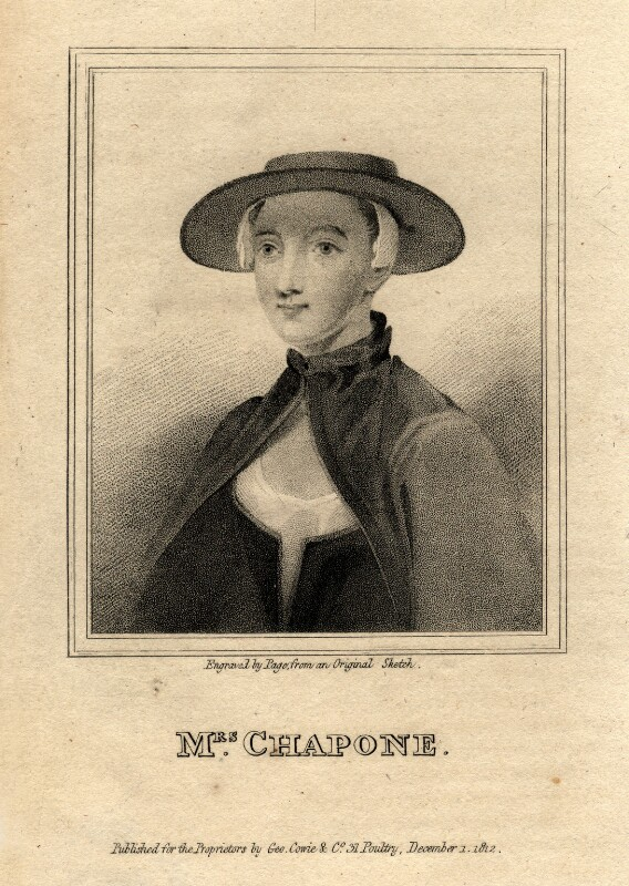 Hester Chapone (née Mulso), by R. Page, published 1 December 1812 - NPG D2046 - © National Portrait Gallery, London