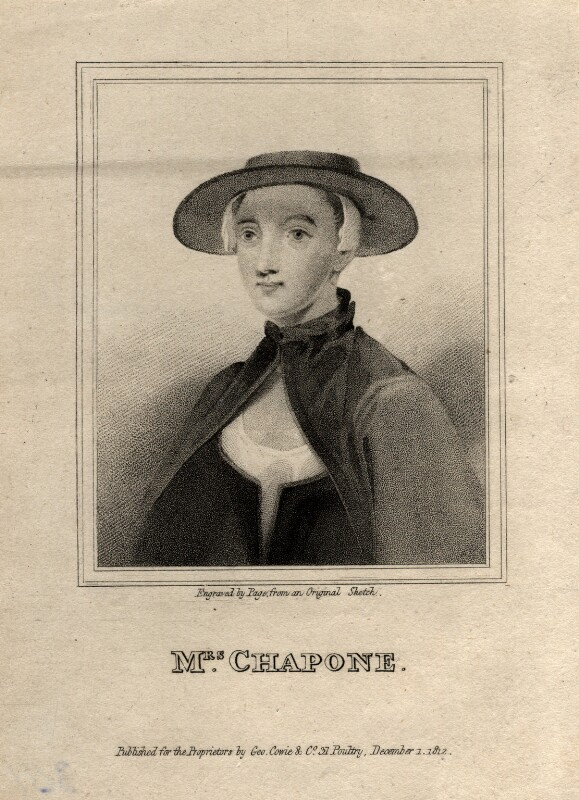Hester Chapone (née Mulso), by R. Page, published 1 December 1812 - NPG D2047 - © National Portrait Gallery, London