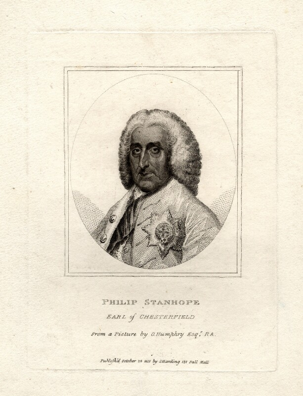 Philip Dormer Stanhope, 4th Earl of Chesterfield, after Ozias Humphry, published 1801 - NPG D2066 - © National Portrait Gallery, London
