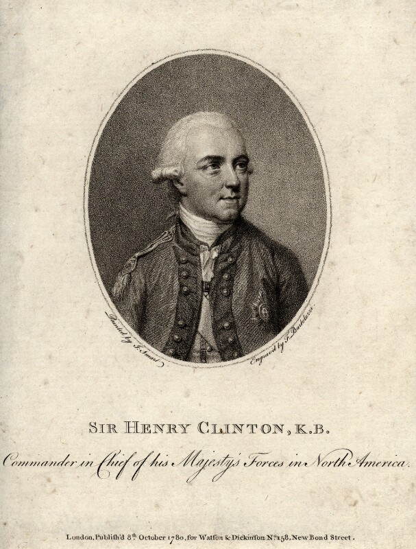 Sir Henry Clinton, by Francesco Bartolozzi, after  John Smart, published 1780 - NPG D2086 - © National Portrait Gallery, London