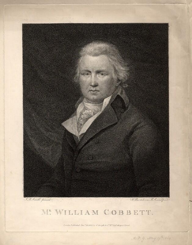 William Cobbett, by Francesco Bartolozzi, after  John Raphael Smith, published 1801 - NPG D2089 - © National Portrait Gallery, London