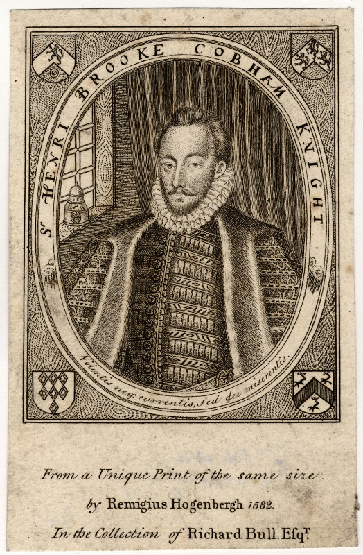 Sir Henry Brooke Cobham, after an engraving by Remigius Hogenberg, (1582) - NPG D2091 - © National Portrait Gallery, London