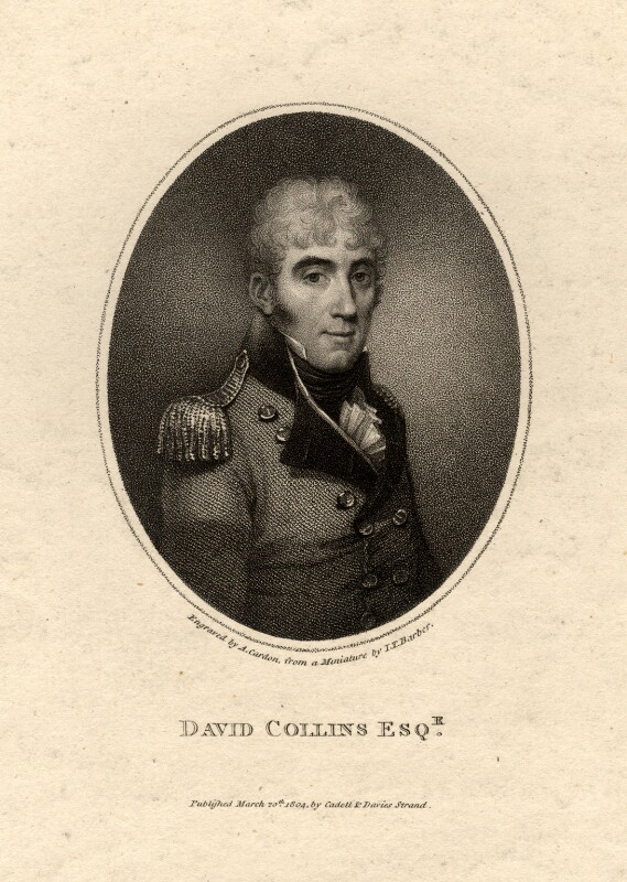 David Collins, by Anthony Cardon, after  John Thomas Barber Beaumont (John Thomas Barber), published 1804 - NPG D2097 - © National Portrait Gallery, London