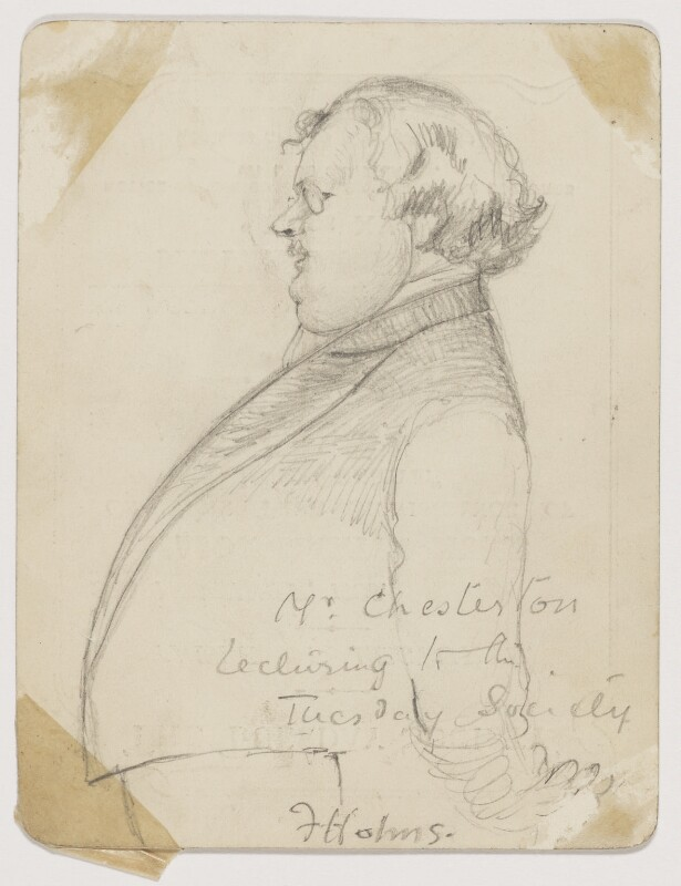 G.K. Chesterton, by Florence Holms, 1906 - NPG D2107 - © National Portrait Gallery, London