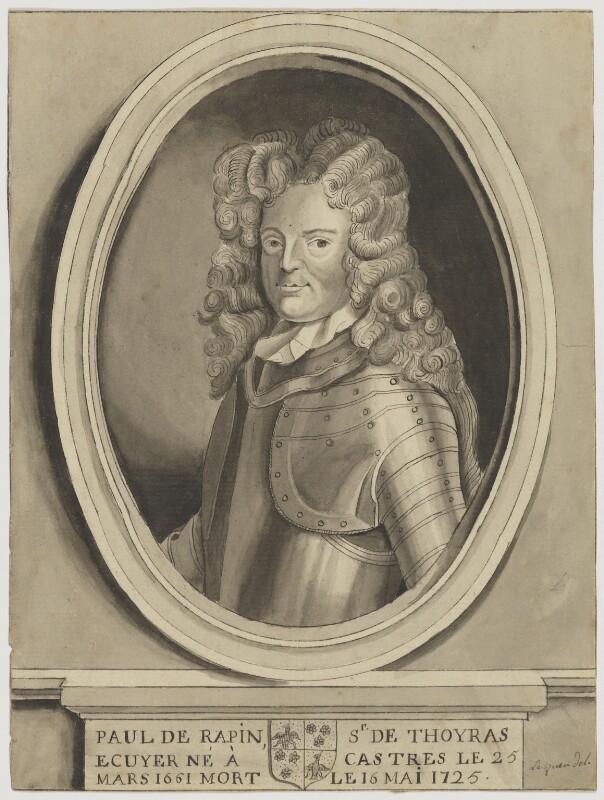 Paul de Rapin, by Lequeu, after  Jan Henrik Brandon, 18th century - NPG D2138 - © National Portrait Gallery, London