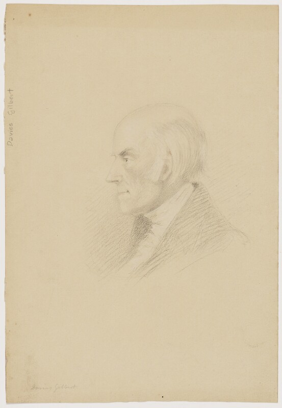 Davies Gilbert, by Gideon Algernon Mantell, circa 1830 -NPG D2171 - © National Portrait Gallery, London