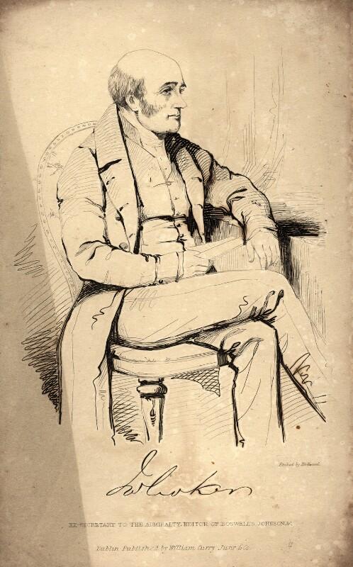 John Wilson Croker, by John Kirkwood, after  Unknown artist, 1830s or after - NPG D2230 - © National Portrait Gallery, London