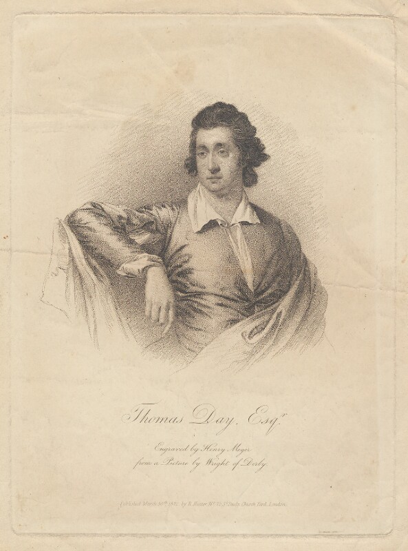 Thomas Day, by Henry Meyer, after  Joseph Wright, published 1820 - NPG D2256 - © National Portrait Gallery, London