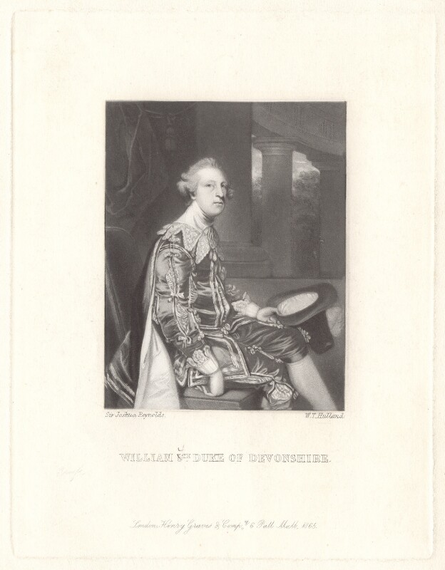 William Cavendish, 5th Duke of Devonshire, by W.T. Holland, after  Sir Joshua Reynolds, published 1865 - NPG D2269 - © National Portrait Gallery, London