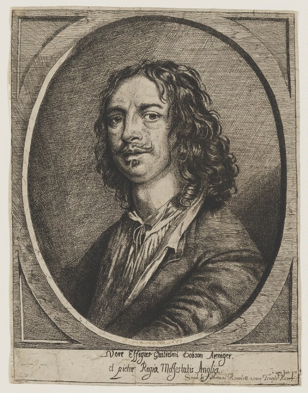 William Dobson, by Josias English, published by  Thomas Rowlett, after  William Dobson, circa 1646-1649 - NPG D2277 - © National Portrait Gallery, London