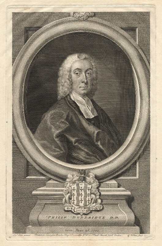 Philip Doddridge, by George Vertue, after  Andrea Soldi, 1751 - NPG D2278 - © National Portrait Gallery, London